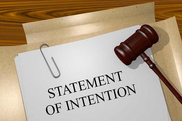 What Is A Statement Of Intention In A Bankruptcy Case?